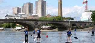 London canoe trips, kayak touring & Stand Up Paddleboarding (SUP) adventures