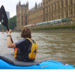 Kayak group leader training on the tidal Thames: 23/11/13