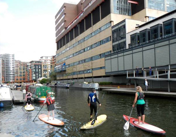 Stand Up Paddleboarding in Paddington, London