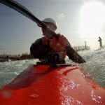 Kayak coaching for older paddlers at Lee Valley
