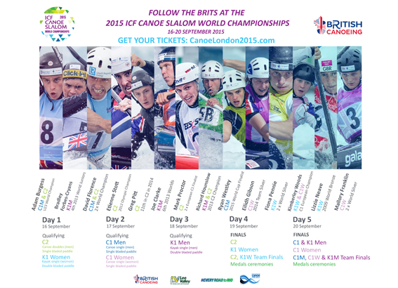 ICF Canoe Slalom World Championships Competition schedule