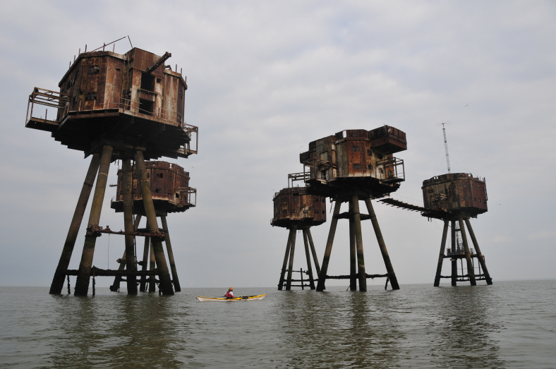 South East England & Channel Islands Sea Kayaking Thames Forts by Mark Rainsley
