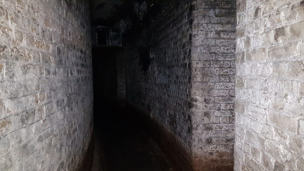 The unlit passageways of Fort Hoo