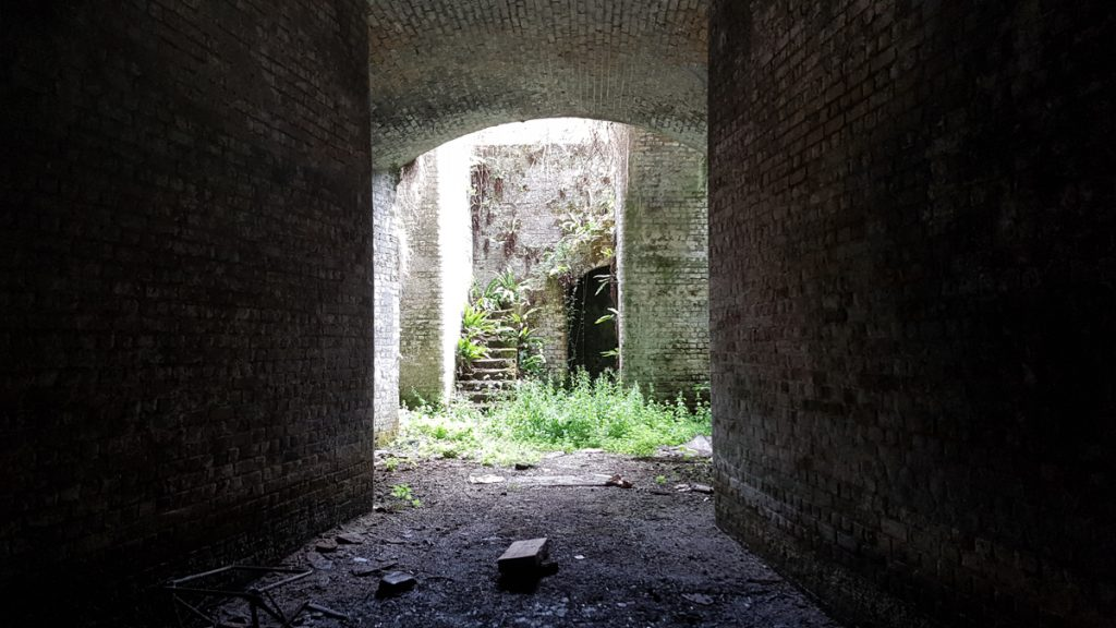 Entrance passage to Fort Hoo