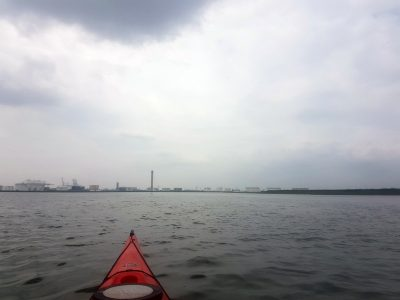 Kayaking around Canvey Island